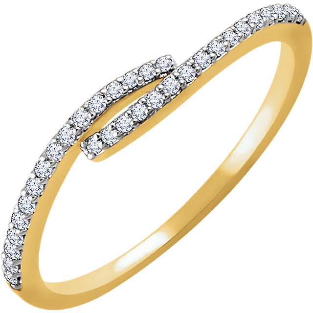 Surprise Her with  14 Karat Yellow Gold 0.17 Carat Total Weight Diamond Ring