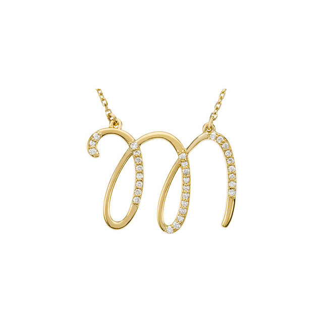 14 Karat Yellow Gold Letter