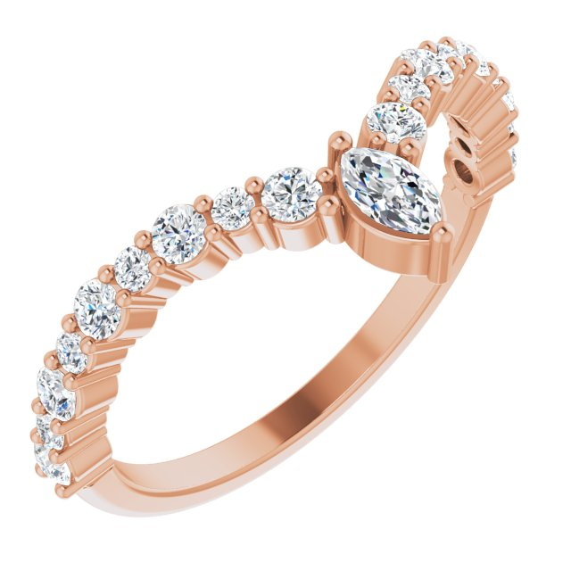 White Diamond Ring in 14 Karat Rose Gold 1/2 Carat Diamond