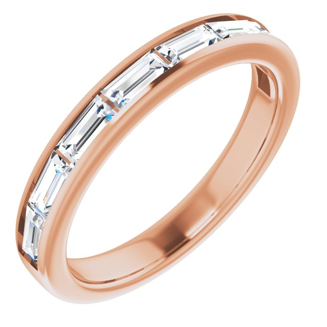 White Diamond Ring in 14 Karat Rose Gold 3/4 Carat Diamond Ring
