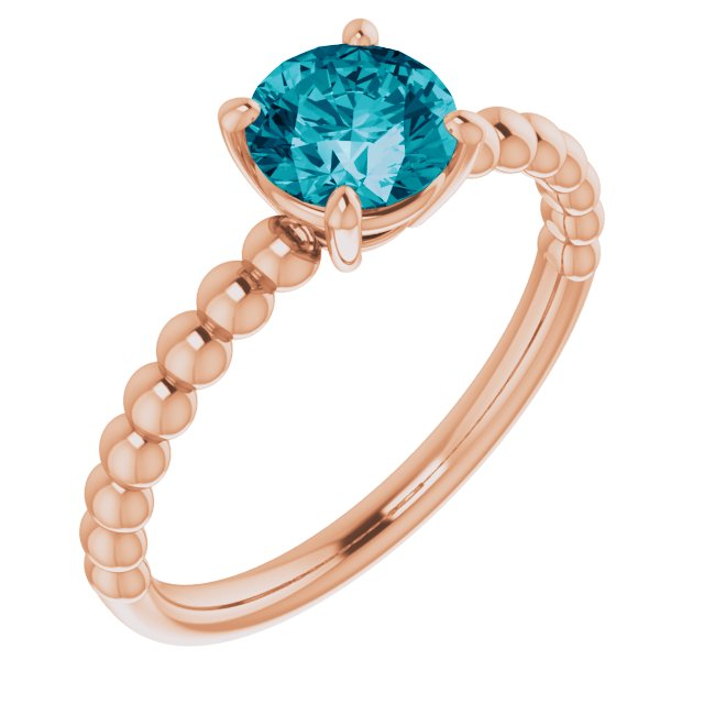 Genuine Topaz Ring in 14 Karat Rose Gold London Genuine Topaz Beaded Ring