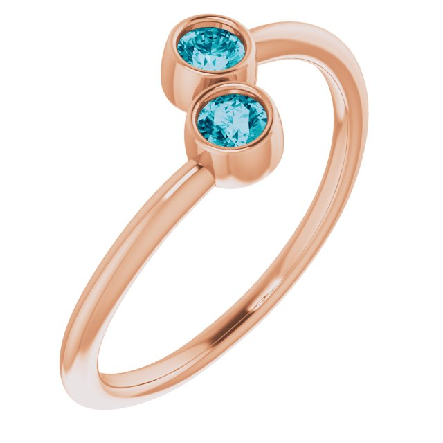 Genuine Topaz Ring in 14 Karat Rose Gold London Genuine TopazTwo-Stone Ring