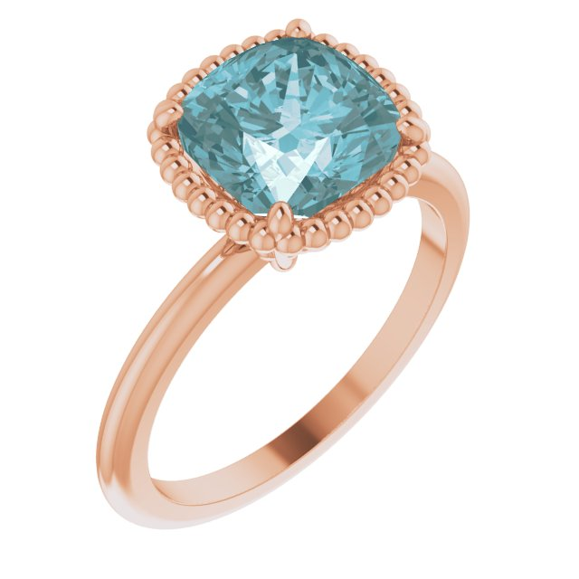 Genuine Topaz Ring in 14 Karat Rose Gold Sky Genuine Topaz Ring