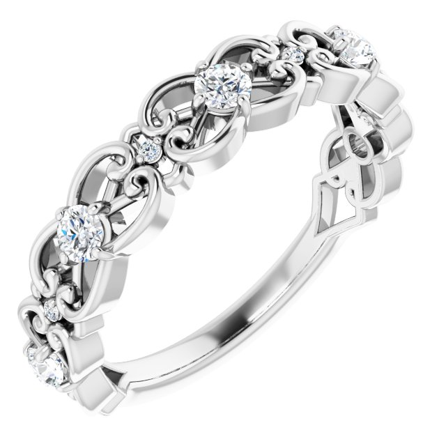 White Diamond Ring in 14 Karat White Gold 1/3 Carat Diamond Ring