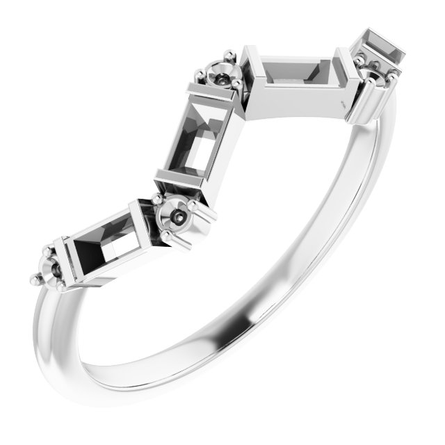 White Diamond Ring in 14 Karat White Gold 1/3 Carat Diamond Stackable Ring