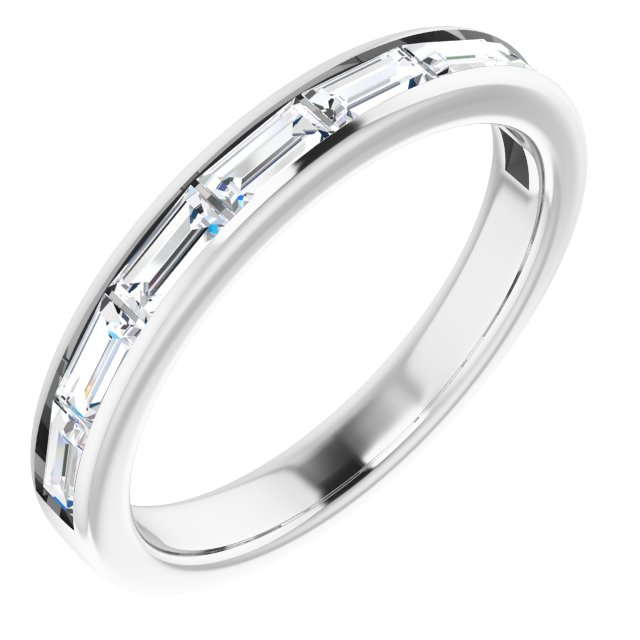 White Diamond Ring in 14 Karat White Gold 3/4 Carat Diamond Ring