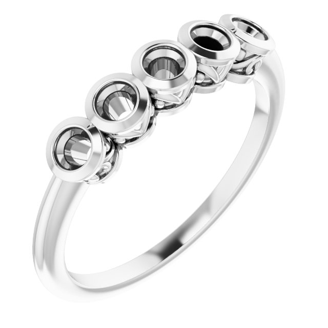 Genuine Zircon Ring in 14 Karat White Gold Genuine Zircon Ring