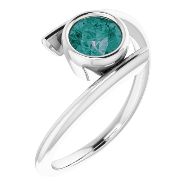 Chatham Created Alexandrite Ring in 14 Karat White Gold Chatham® Created Alexandrite Ring