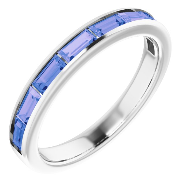 Genuine Tanzanite Ring in 14 Karat White Gold Tanzanite Ring