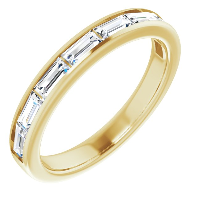 White Diamond Ring in 14 Karat Yellow Gold 3/4 Carat Diamond Ring
