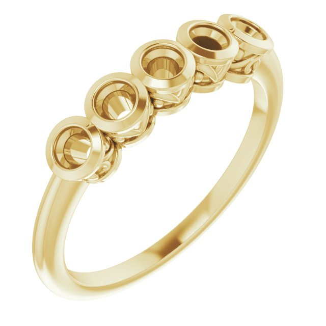 Genuine Zircon Ring in 14 Karat Yellow Gold Genuine Zircon Ring