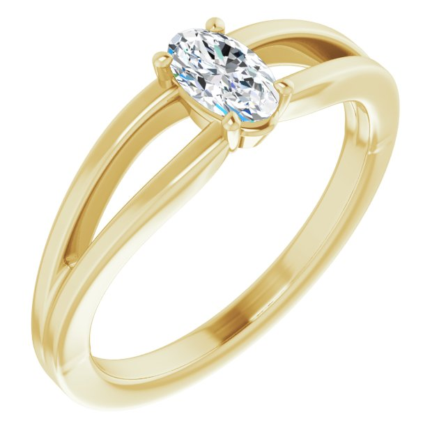 Genuine Sapphire Ring in 14 Karat Yellow Gold Sapphire Solitaire Youth Ring