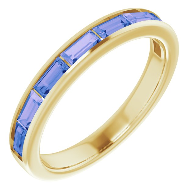 Genuine Tanzanite Ring in 14 Karat Yellow Gold Tanzanite Ring