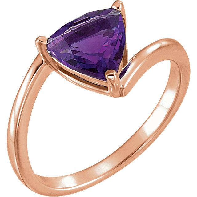 Very Nice 14 Karat Rose Gold Amethyst Ring