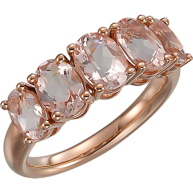 14 Karat Rose Gold Morganite Ring