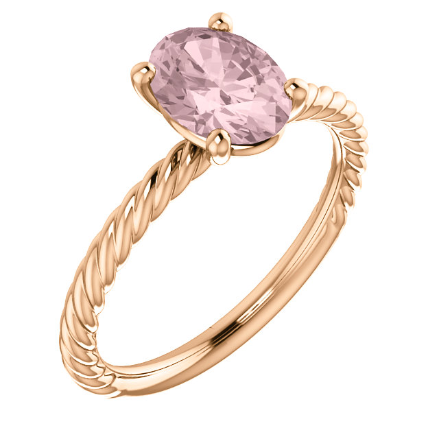 Perfect Gift Idea in 14 Karat Rose Gold Morganite Ring