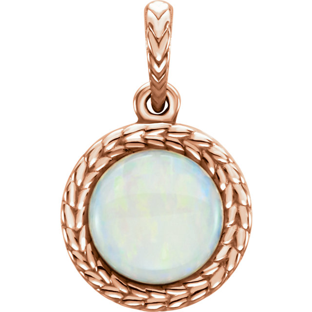 Must See 14 KT Rose Gold Opal Pendant