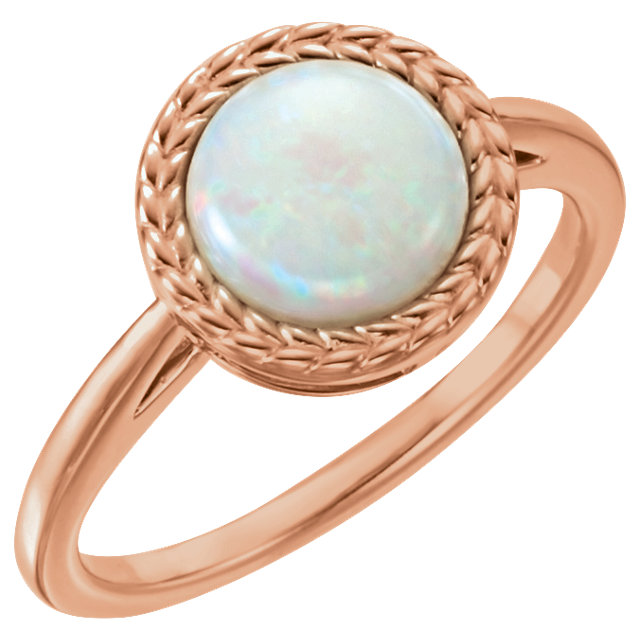 Stunning 14 Karat Rose Gold Opal Ring