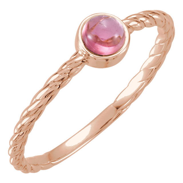 Must See 14 Karat Rose Gold Pink Tourmaline Ring