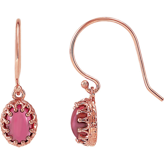 14KT Rose Gold Rhodolite Garnet Earrings