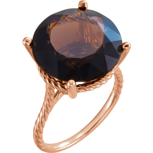 Surprise Her with  14 Karat Rose Gold Smoky Quartz Ring