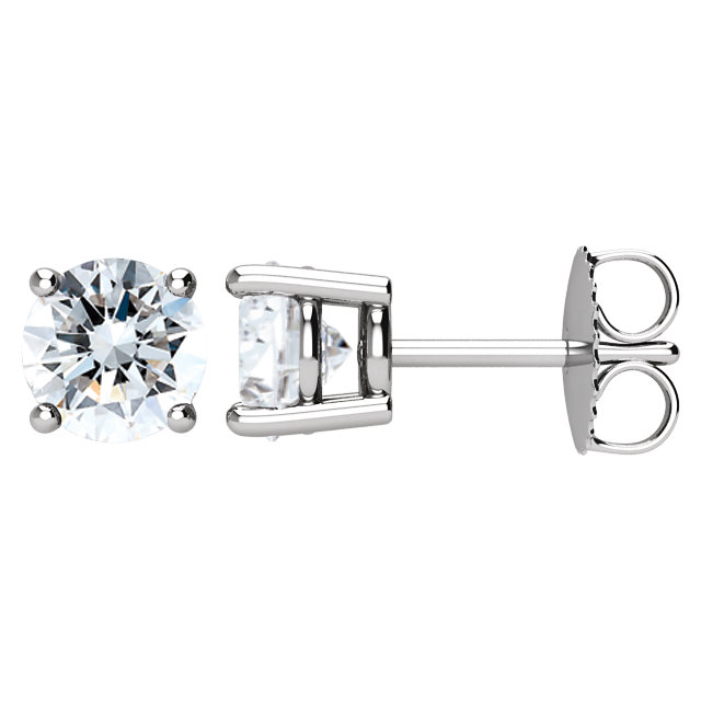 Easy Gift in 14 Karat White Gold 0.50 Carat Total Weight Diamond Earrings