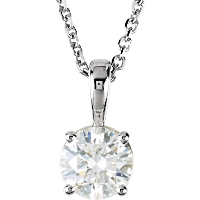 14 Karat White Gold 0.50 Carat Diamond 18