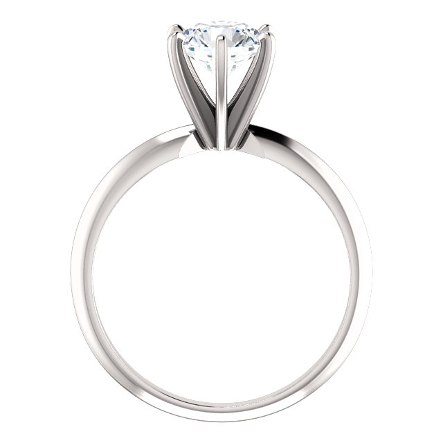 14KT White Gold 1 CTW Diamond 6-Prong Light Solitaire Engagement Ring