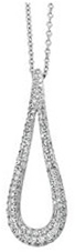14KT White Gold 1 CTW Diamond Teardrop Necklace