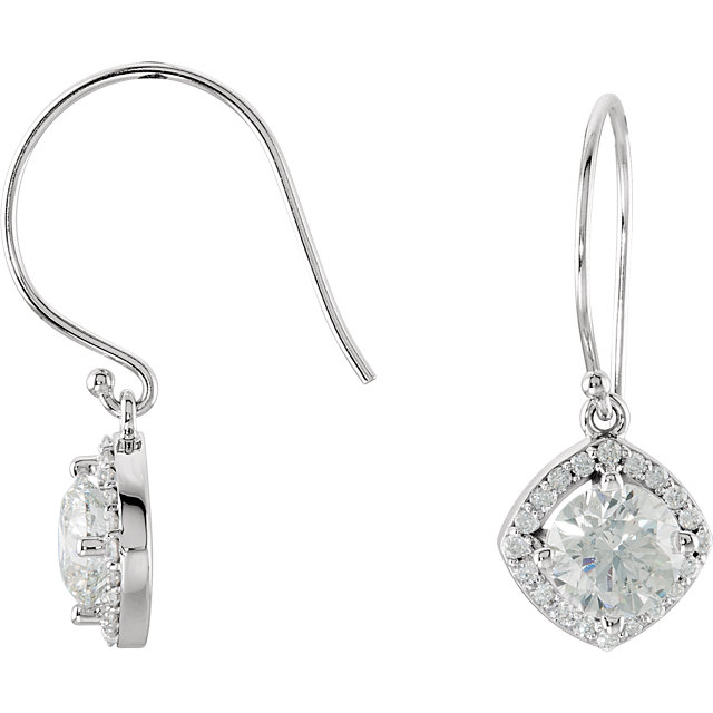 Low Price on Quality 14 KT White Gold 2 0.20 Carat TW Diamond Earrings
