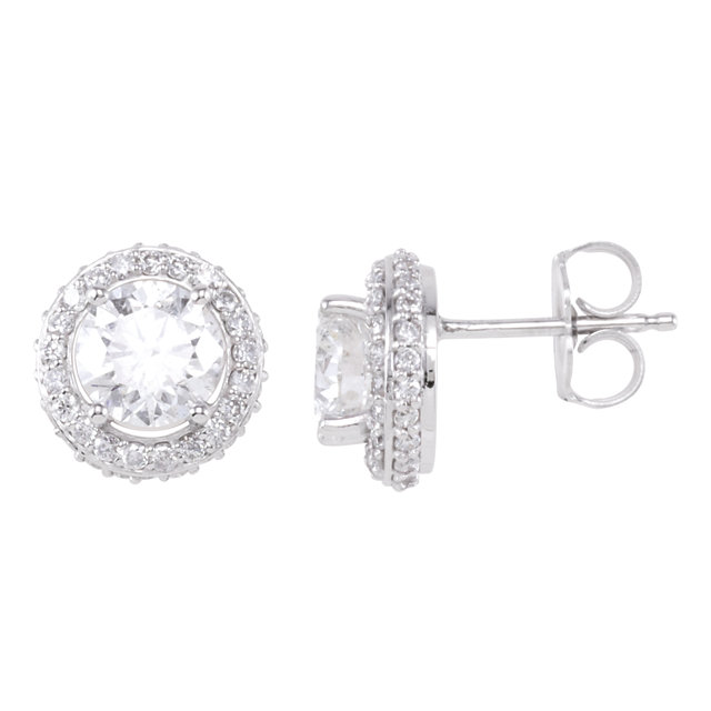 Great Deal in 14 Karat White Gold 0.85 Carat Total Weight Diamond Earrings