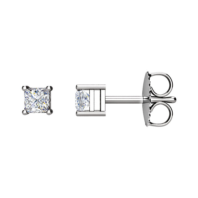 Appealing Jewelry in 14 Karat White Gold 0.75 Carat Total Weight Diamond Earrings