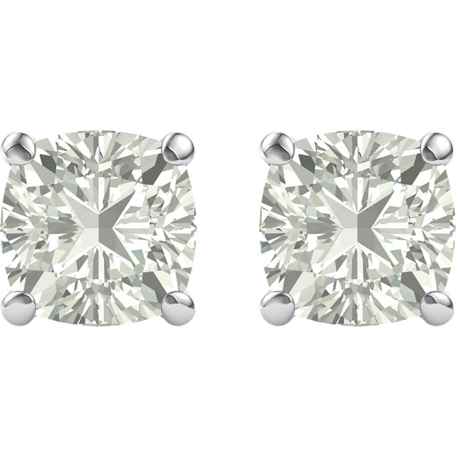 14KT White Gold 8mm Antique Square Forever Classic