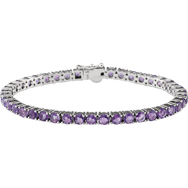 Buy 14 Karat White Gold Amethyst 7.15