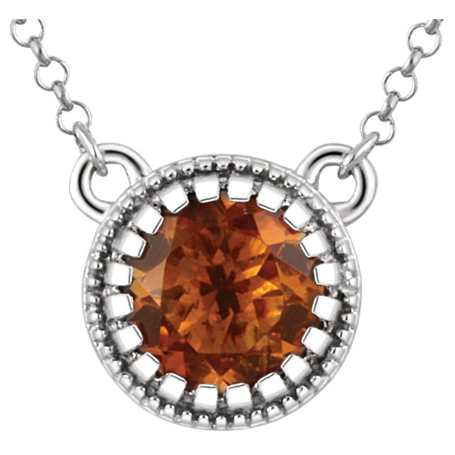 14 Karat White Gold Citrine