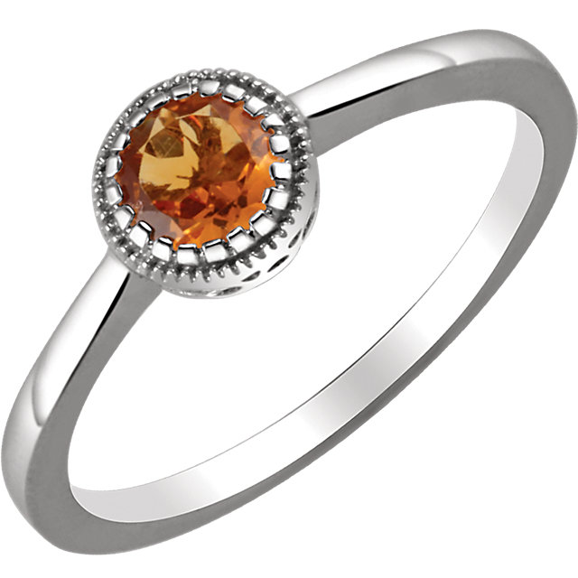 Great Gift in 14 Karat White Gold Citrine