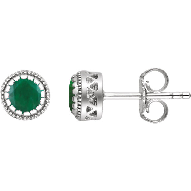 Appealing Jewelry in 14 Karat White Gold Emerald