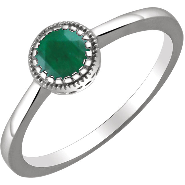 Surprise Her with  14 Karat White Gold Emerald