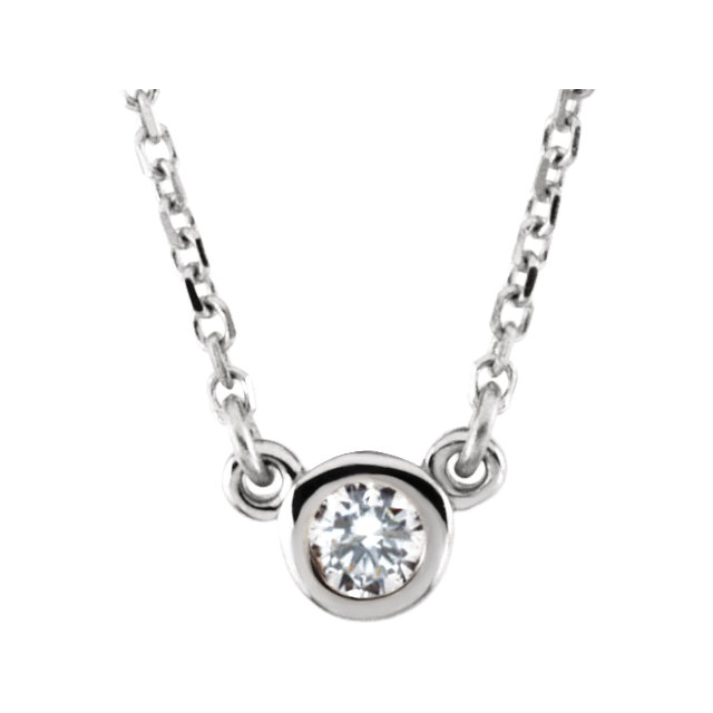 14KT White Gold Forever Brilliant Moissanite 16