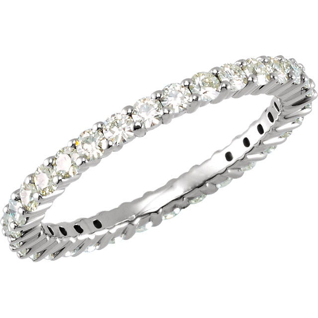 14KT White Gold Forever Classic Moissanite Eternity Band Size 5