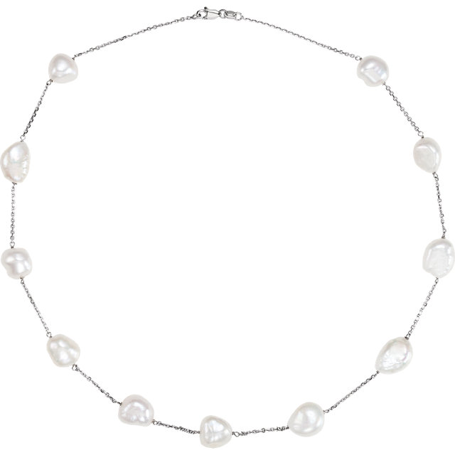 Deal on 14 KT White Gold Freshwater Cultured Pearl 18