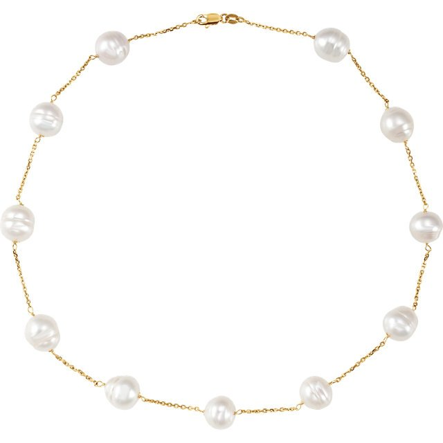 14KT White Gold Freshwater Cultured Pearl 8