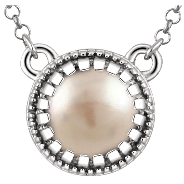 Easy Gift in 14 Karat White Gold Freshwater Cultured Pearl