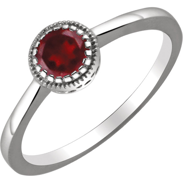Very Nice 14 Karat White Gold Garnet