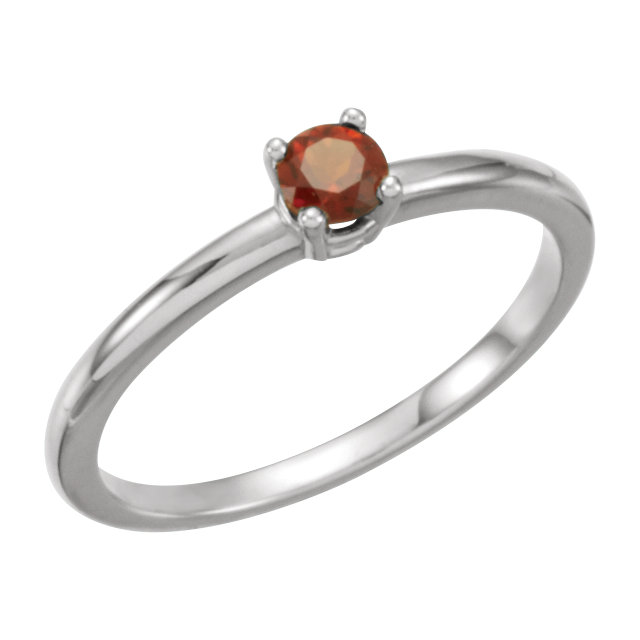 Eye Catchy 14 Karat White Gold Garnet Mozambique