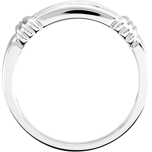 14KT White Gold Men's Forever Classic Moissanite Band