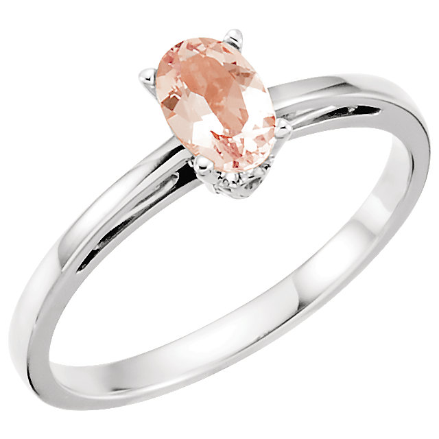 Deal on 14 KT White Gold Morganite Ring