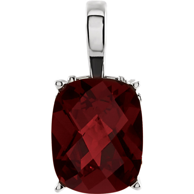 14KT White Gold Mozambique Garnet 18