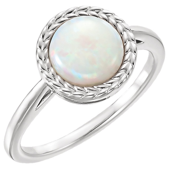 Great Deal in 14 Karat White Gold Opal Ring