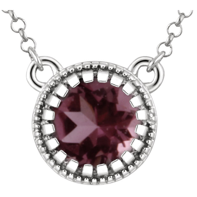 Low Price on 14 KT White Gold Pink Tourmaline